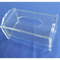 Buy cheap Clear Rectangular Acrylic Tissue Paper Box With Sliding Lid product