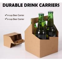Buy cheap Wine bottle carrier, disposable paper holder,newspaper holder recycling,take away coffee cup carrier, handy, handle pac from wholesalers