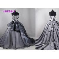 Buy cheap Tulle Black And White Bridesmaid Dresses , Strapless Two Color Bridesmaid Dresses from wholesalers