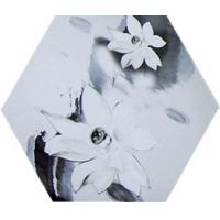Buy cheap Rustic Hexagon Ceramic Tiles Chinese Style Water Lily Pattern 260 X 300 MM from wholesalers