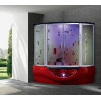 Buy cheap 2016 new style with foot massage bathtub steam room with Art glass (G160I Red) from wholesalers