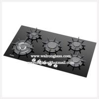 Customized Gas Stove Glass6mm with 5 Holes Gas Hob Tempered Glass Panels