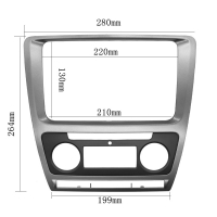 Buy cheap Fascia For Skoda Octavia Auto AC 2010 - 2013 DVD Stereo Frame Mounting Panel Dash Installation Bezel Trim Kit for 2 Di from wholesalers