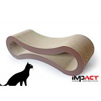 Buy cheap B Flute Cardboard Cat Lounge , Durable Cat Scratch Pad 86.3x26.7x26.7cm from wholesalers