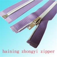 Buy cheap Nylon zipper with silver teeth from wholesalers