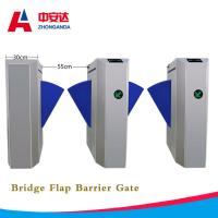 Buy cheap Automatic Bridge Flap Wing Barrier Turnstile 1.5mm 304 Stainless Steel Control Turnstile Gate for Subway from wholesalers