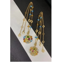 Buy cheap Astrale Large pendant necklace, 18k yellow gold, inlaid with blue topaz, amethyst, green tourmaline, peridot, citrine from wholesalers