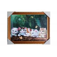 Buy cheap Love Cat Image Lenticular 3d Pictures Decoration Craft Modern PS Frame For House from wholesalers