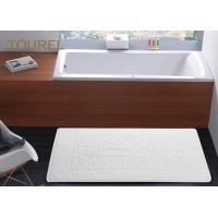 Buy cheap Jacquard Environmental Hotel Bath Mats With Foot Shape 350g / 400g from wholesalers