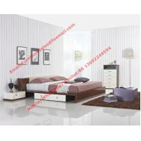 Buy cheap Italy modern design bedroom furniture by storage and leather headboard product