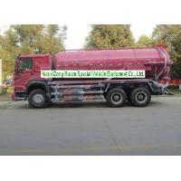 Buy cheap Sinotruk Howo 18000L Sewage Suction Truck With Vacuum Pump 10 Wheeler from wholesalers