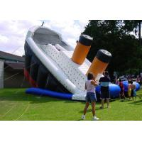 Buy cheap Titanic Shaped Commercial Inflatable Slide Safe Air Flap Inside For Amusement Park from wholesalers