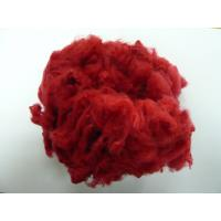 Buy cheap Red Solid Spinning Regenerated Polyester Staple Fiber 1.2D - 6D, 32mm, 38mm, 51mm length from wholesalers