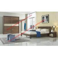 Buy cheap Wood & Panel furniture in modern deisgn Walnut color by KD bed with Sliding door wardrobe from wholesalers