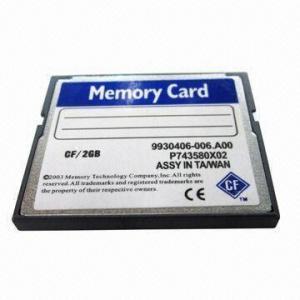 Buy cheap Compact Flash Card, 32, 64, 128, 256, 512MB, 1, 2, 4, 8, 16, 32GB Capacity/CF Cards product