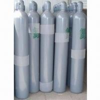 Buy cheap Helium Gas Cylinder with 150bar/15mPa WP and High Pressure for Industry, Made of Seamless Steel from wholesalers