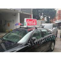 Buy cheap Remote Control Taxi Top LED Display 6500 Cd/Sqm Brightness Advanced Design from wholesalers