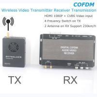 Buy cheap COFDM Wireless Video Transmitter Receiver Transmission HDMI HD 1080P composite CVBS in H.264 COFDM-904T from wholesalers