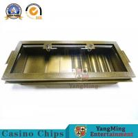 Buy cheap Industrial Grade Metal Iron Gambling Single Layer Clay Acrylic Casino Chips Tray Poker Chip Set Round Square Chips Float from wholesalers