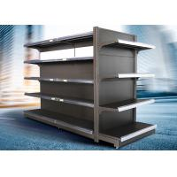 Buy cheap Brown and white color supermarket display equipment adjustable and fashionable gondola with OEM design product
