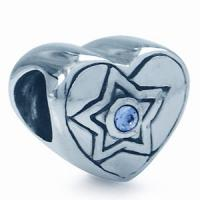 Buy cheap Heart Shaped Bead Charm 925 Sterling Silver With Star Bead For Necklace from wholesalers