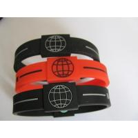Buy cheap Customized High power hologram silicon bangle bracelet energy rubber wrist band from wholesalers