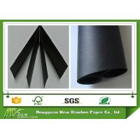 Buy cheap Wood Pulp Black Paper Board 110 - 450gsm Smooth Face Black Chipboard MSDS from wholesalers