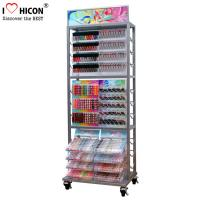 Buy cheap Movable Metal Nail Polish Cosmetic Display Stand Clear Beauty Organizer from wholesalers
