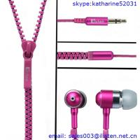 Buy cheap zipper metal mobile phone headphones noise cancelling from wholesalers