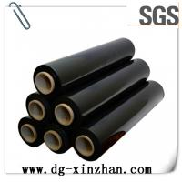 Buy cheap PackagingFilmUsage and Transparent Transparency plasticPE black stretch filmroll from wholesalers