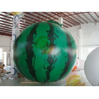 Buy cheap 4m diameter watermelon Fruit Shaped Balloons Rainproof / Fireproof from wholesalers