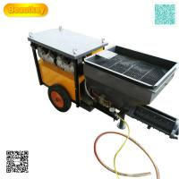Buy cheap High power mortar plastering machine pump low price mortar spray machine from wholesalers