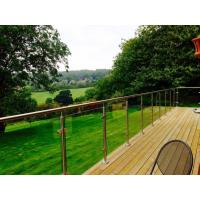 Buy cheap Outdoor balcony stainless steel glass railing / glass balustrade design product