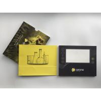 Buy cheap Paper Material LCD video brochure card 7inch LCD screen video card with slide cover for biotech marketing from wholesalers