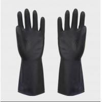 Buy cheap heave duty latex black industrial rubber glove from wholesalers