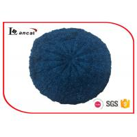 Buy cheap Cable Pattern Womens Knit Beret Hat Acrylic Fabrics With Dark Blue Lurex from wholesalers