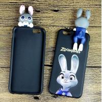 Buy cheap Cool Judy Rabbit Silicone Phone Cover With 3D Soft PVC Judy Charm Decoration, 2017 Best Seller from wholesalers