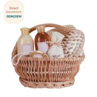 Buy cheap Organic Bath Gift Baskets With Shower Gel Body Lotion Bath Salt Body Butter Soap from wholesalers