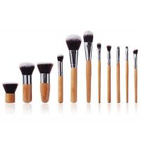 Buy cheap Handmade Face Bamboo Makeup Brushes Natural  Bristle With Hot Stamping Logo product