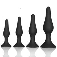 Buy cheap Couple pleasure body safe Anal Sex Toys 4 Piece purple black Silicone Anal Plug butt plug Set product