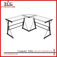 Buy cheap TCG 2015 new  glass l shape computer desk CGT-139 from wholesalers