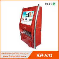 Buy cheap 19inch wall mounted touch screen cash acceptor barcode reader bill payment kiosk from wholesalers