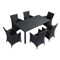 Buy cheap 100% Olefin Zippered Cushions Patio Table And Chairs from wholesalers