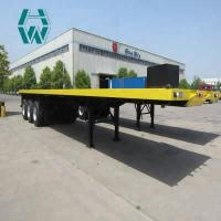 Buy cheap Mechanical Suspension Low Bed Semi Trailer Complete Chassis Sand Blasting from wholesalers