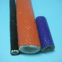 China Fire Resistant Fiberglass Sleeving Anti Corrosive Chemicals Coated With Silicone Rubber on sale
