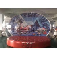 Buy cheap PVC Outdoor Christmas Inflatables , Snow Globe Giant Christmas Inflatables from wholesalers