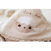 Buy cheap Soft & cuddly Plush beautiful baby blankets with bird applique finished with Saffron 30 x 40 from wholesalers