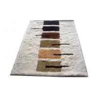 Buy cheap White Polyester 150D Silky Shaggy Rug Latex Cotton Canvas Backing, Modern Area Rugs from wholesalers