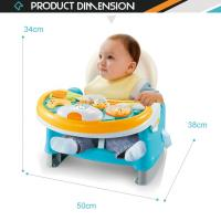 Buy cheap 3 in 1 portable dining feeding baby table chair with music light from wholesalers