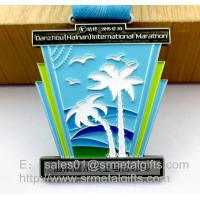 Buy cheap Metal Challenge Awards Medal with ribbon, custom enamel color filled challenge medals from wholesalers